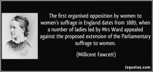 The first organised opposition by women to women's suffrage in England ...