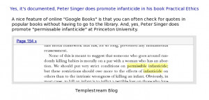 Peter Singer's Infanticide at Princeton University