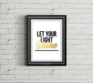 Let Your Light Shine Printable 8x10