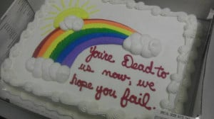 Cake I got from coworkers on the last day of work.