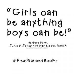 Barbara Park Junie B. Jones quote