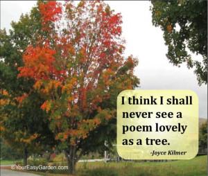 Joyce Kilmer quote