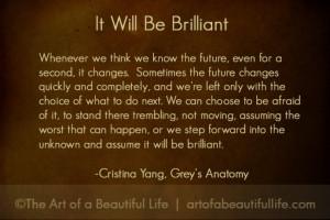 Cristina Yang Quote - Grey's Anatomy Farewell to Cristina