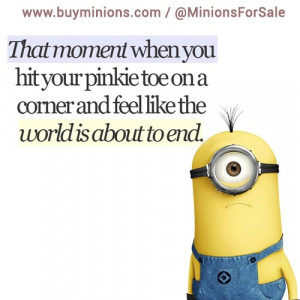 That moment… #thatmoment #pink #pain #funny #minionquote