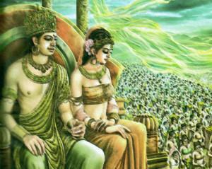 Raja Suddhodana dan Ratu Maya