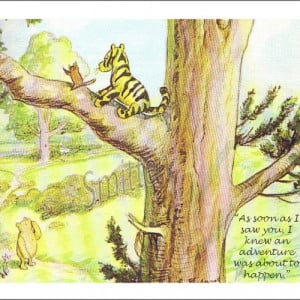 Winne the Pooh and Piglet Quote 4x6 Art Print