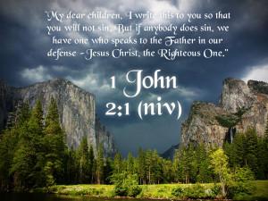 Bible Verse: 1 John 2:1 Peaceful Valley Wallpaper - Christian ...