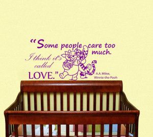 Wall Decals Quote Winnie the Pooh Some People Care Too Much... Home ...