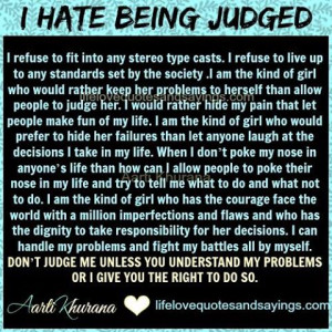 Don't Judge Me.. - Love Quotes And Sayings