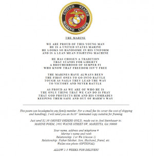 marine love poems