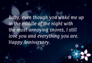 Funny Anniversary Quotes for Him
