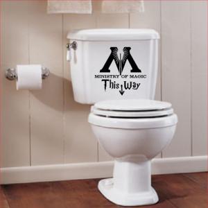 ... of magic bathroom quote vinyl decal sticker magic bathroom quote vinyl