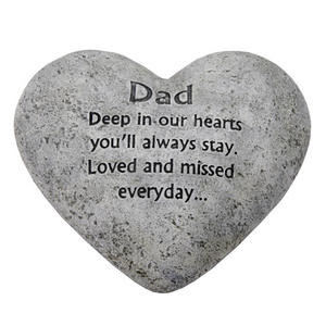Graveside Memorial Heart Plaque Dad Preview