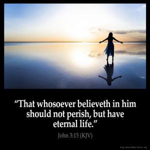 John 3:15 Inspirational Image