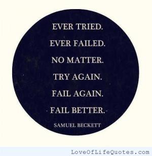 Samuel Beckett quote on failing