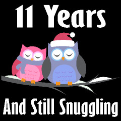 6th Anniversary Snuggling Owls