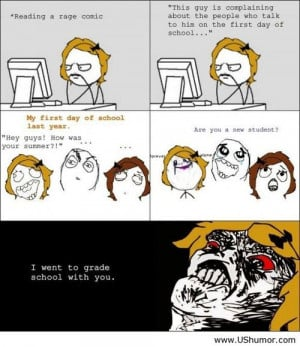 First day of school rage comics US Humor - Funny pictures, Quotes, ...