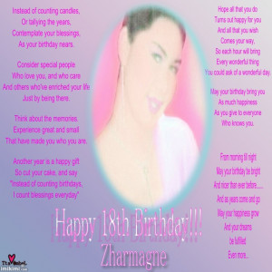 Happy 18th Birthday Wishes Quotes