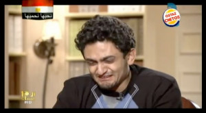 Wael Ghonim during an interview which aired on Dream TV on February 7 ...
