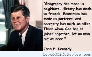 John F Kennedy quote on god