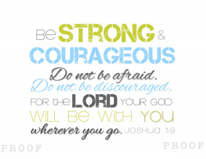 Graduates: Be Strong & Courageous