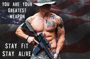 """Police Motivation Poster """"Stay Fit-Stay Alive"""""""