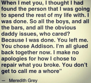 best meredith grey quote.