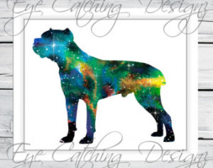 Corso Dog Puppy Pet Lover Wate rcolor Painting Fine Art Print Poster ...