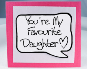 Daughter Card. Funny Birthday Card for Daughter. Pink Note Card. ...