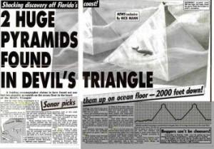 Bermuda Triangle Underwater Pyramids Newspaper