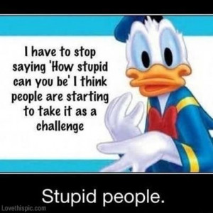 stupid people funny quotes quote lol funny quote funny quotes daffy ...