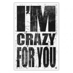 Music Lyric Art Print - Madonna- 80s - I'm Crazy For You----11 X 17 ...