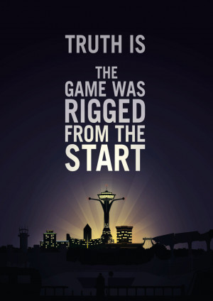 Fallout New Vegas Quote Poster - Created by Simon WardAvailable for ...