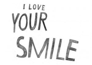 cute, love, quote, smile, text, you
