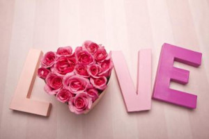 Letters spelling love with roses - Tooga/The Image Bank/Getty Images