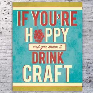 Beer Quote Art Print, Beer Sign, Craft Beer Art, Funny Beer Quote ...