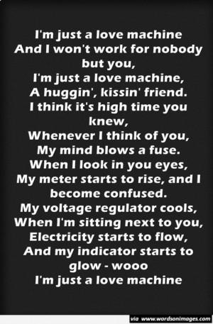 Love machine quote