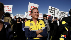 Fortescue Metals CEO Andrew 'Twiggy' Forrest at Langley Park in Perth ...