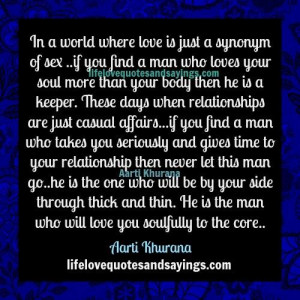 When A Man Loves Your Soul..
