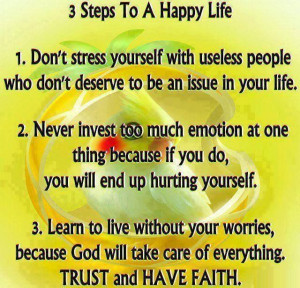 happy life...my mantra today investing too much emotion is a bad thing ...