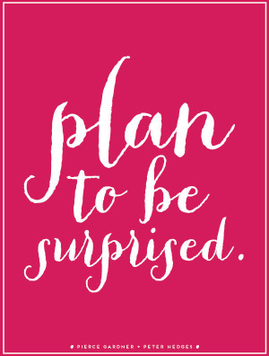 """Planning Quote 8: """"Plan to be surprised"""""""