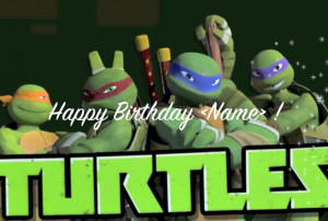Happy Birthday Greeting Card Tmnt Teenage Mutant Ninja Turtles