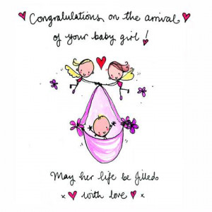 Details about NEW! Juicy Lucy S121 Congratulation s New Baby Girl Card