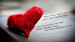 Red heart sad love quotes