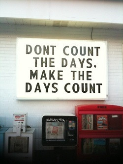 leilockheart: make the days count