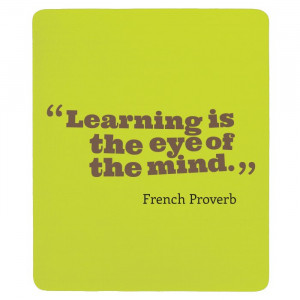 French Proverb French Quotes Mouse Pad