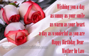 birthday mother in law Beautiful Happy Birthday wishes for mother in ...