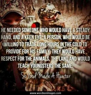 So God Made a Hunter
