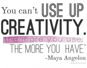 ... to use up all the creativity i have sometimes the creative flow is