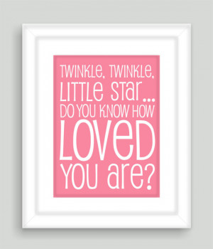 Twinkle, Twinkle Little Star Quote Modern Art Print Typography ...